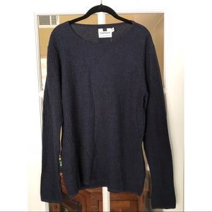 Topman Navy Grid Stitch Sweater NWT